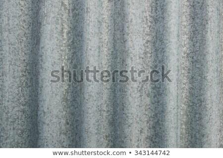 Branco pintado folha metal fachada construção Foto stock © Zerbor