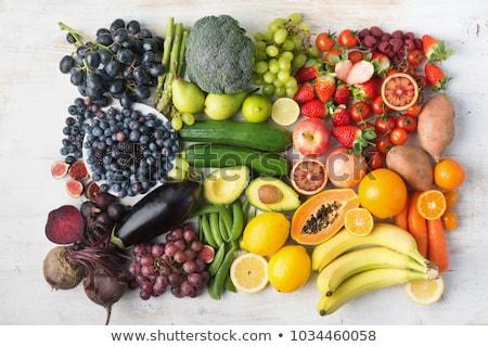 Vegetáriánus étel piros szőlő paradicsom friss bőség Stock fotó © TasiPas