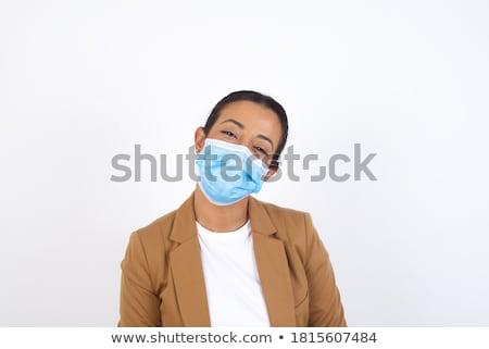 Aantrekkelijk kaukasisch brunette vrouwelijke arts permanente Stockfoto © Traimak