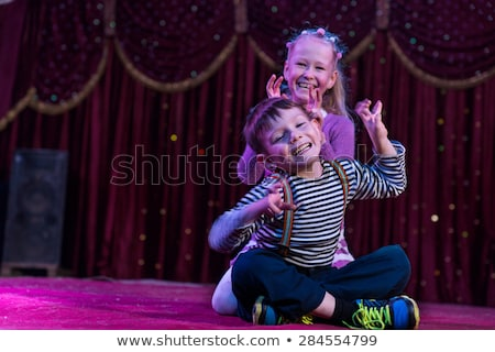 Two children on stage Stock photo © bluering