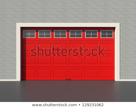 5 red garages stock photo © bobkeenan