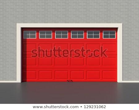5 Red Garages Stock photo © bobkeenan