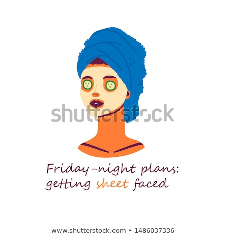 huid · mooie · vrouw · groene · gezicht · masker · vector - stockfoto © maryvalery