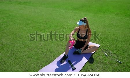 Bastante romper ejercicio aire libre deporte Foto stock © boggy