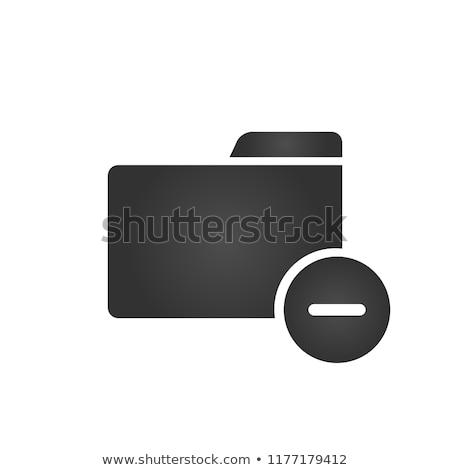 Zdjęcia stock: Folderze · ikona · minus · symbol · modny · stylu