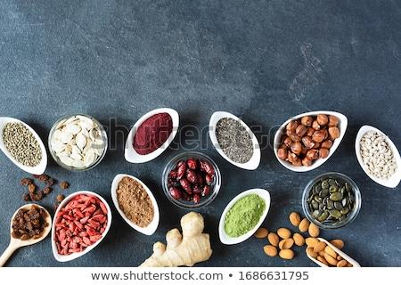 sementes · amargo · feijão · branco · comida · verde - foto stock © illia