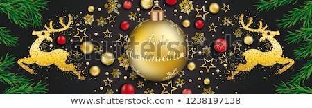 Рождества · безделушка · красный · баннер - Сток-фото © limbi007