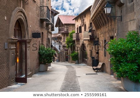 Barcelone étroite rue traditionnel blanche ville Photo stock © neirfy