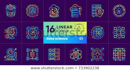 Blockchain Technology Icon Vector Illustration Stock photo © robuart