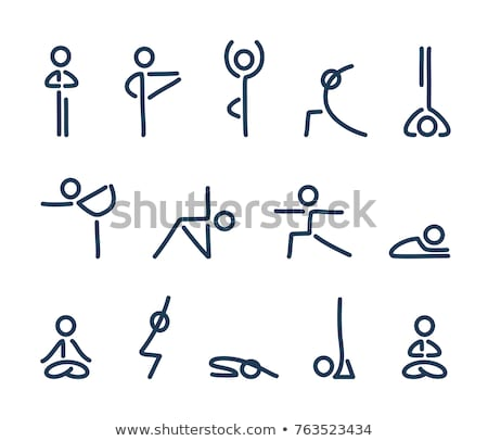 yoga · driehoek · pose · icon · ontwerp · geïsoleerd - stockfoto © WaD
