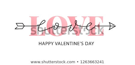 Romantica san valentino regalo tag modelli set Foto d'archivio © ivaleksa