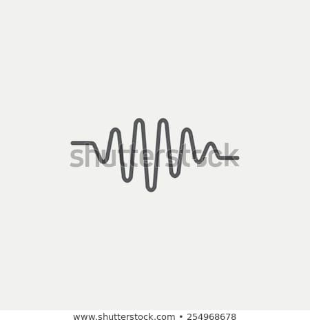 frekvencia · stilizált · rádió · elektronika · délelőtt · hullám - stock fotó © blaskorizov