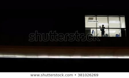 Businessman in the office at night Stock photo © ra2studio