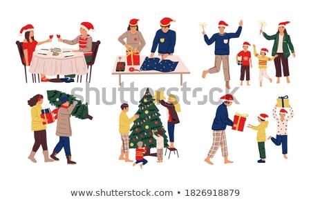 Christmas Winter Holiday Preparation of Couple Stock photo © robuart