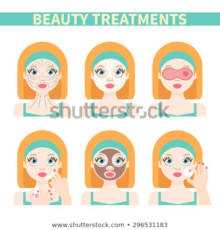 Massage by Masseur and Chocolate Spa Set Vector Stock photo © robuart