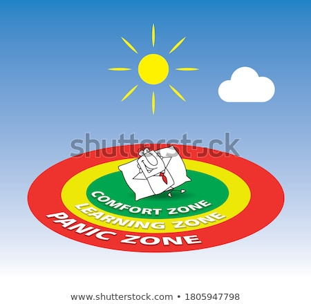 go out his comfort zone Stock photo © tintin75