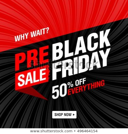черная пятница супер скидка цен сокращение вектора Сток-фото © robuart