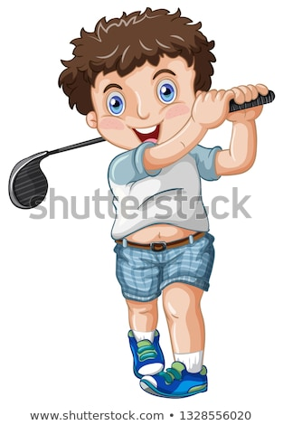 A chubby male golfer Stock photo © bluering