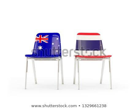 Twee stoelen vlaggen Australië Thailand geïsoleerd Stockfoto © MikhailMishchenko