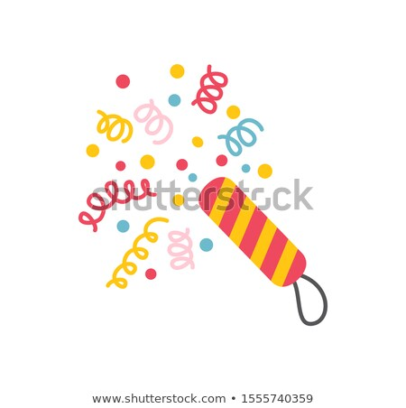 Happy New Year Flapper with Spiral Confetti Papers Stock photo © robuart