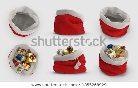 Stock fotó: Karácsony · táska · ajándékok · ikon · vektor · hosszú