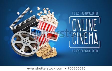 vector · ingesteld · popcorn · papier · kunst · bioscoop - stockfoto © olllikeballoon