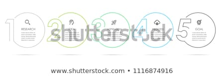 Infographics and Infocharts Visualization Info Stock photo © robuart