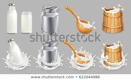 vector set of milk can Stock photo © olllikeballoon