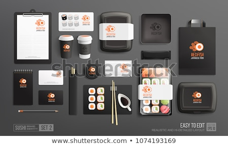Sushi Set Paket weiß isoliert japanisch Stock foto © OleksandrO