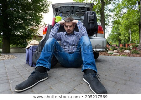 Man Luggage Packing Problem Stock photo © lenm