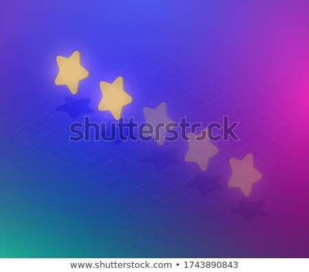Voting concept rating TWO golden stars 3D Stock photo © djmilic