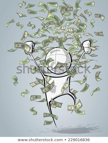 Pénztárca kabala dollár számla illusztráció boldog Stock fotó © lenm