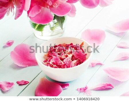 Stock photo: Peony dry flowers tea