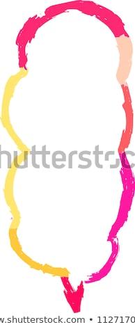 Warm color Speech balloon of Brush writing Stock photo © Blue_daemon