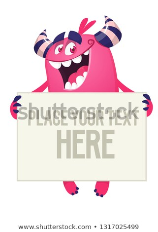 halloween monster blank sign stock photo © lightsource