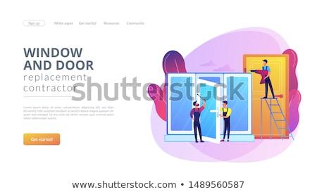 Windows and doors services concept landing page Stock photo © RAStudio