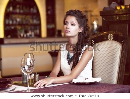 Interieur comfortabel restaurant zachte Windows Stockfoto © pressmaster