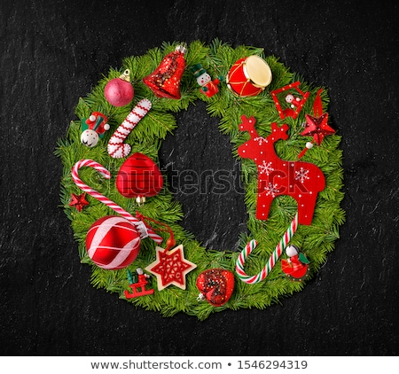 Letter O made of Christmas tree ornaments Stock photo © grafvision