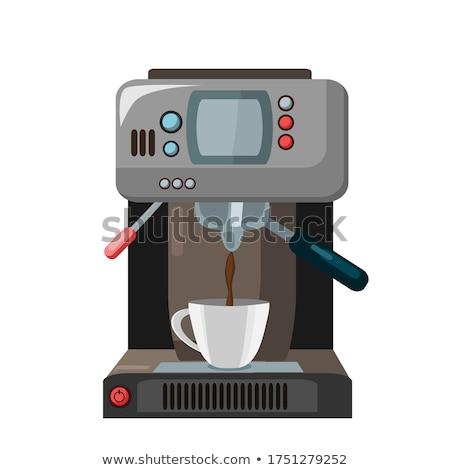 Koffie automatisch machine beker retro vector Stockfoto © pikepicture