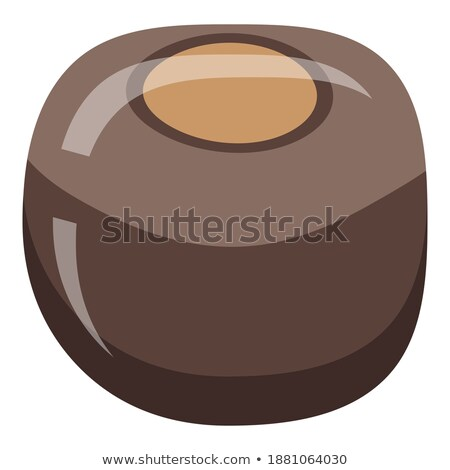Chestnut. Icon on black and white background. Fall fruit vector illustration Stock photo © Imaagio