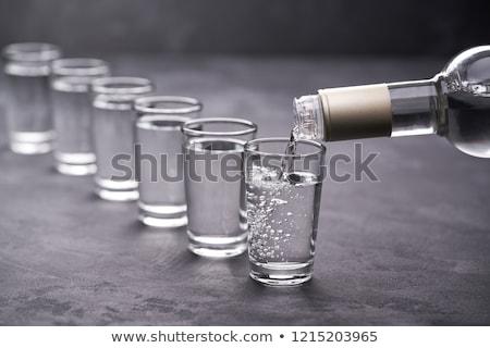 Votka fotoğraf soğuk şişe cam siyah Stok fotoğraf © Francesco83