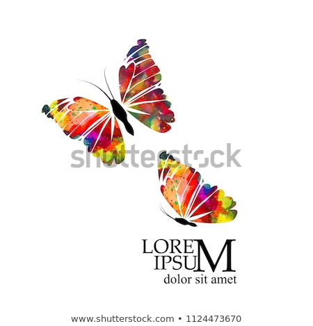 beauty colorized butterfly logo symbol icon vector design Stock photo © gothappy