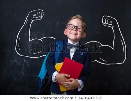 Menina menino classe escolas lousa aluna Foto stock © robuart