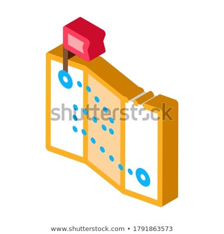 Topografia narzędzie izometryczny ikona wektora inżynier Zdjęcia stock © pikepicture
