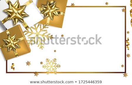 ajándék · szalag · arany · íj · csomagolás · arany - stock fotó © orson