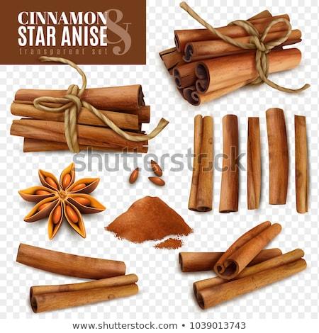 Cinnamon sticks bundle Stock photo © karandaev