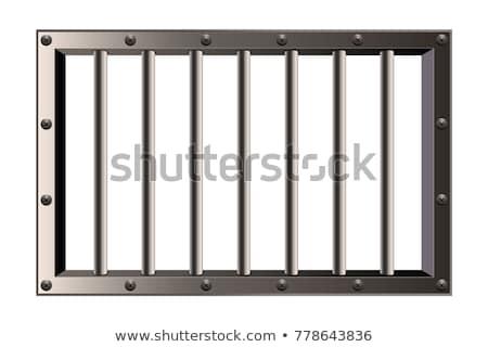 Ventana cárcel resumen pared detalle pequeño Foto stock © smithore