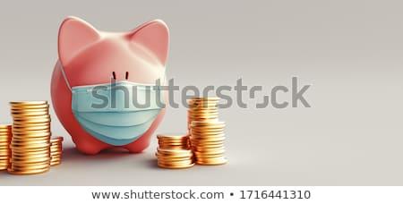 cadeado · moedas · notas · isolado · negócio · dinheiro - foto stock © pterwort
