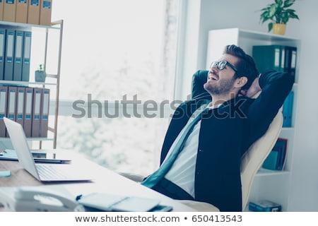 Bem sucedido empresário óculos isolado branco negócio Foto stock © kokimk