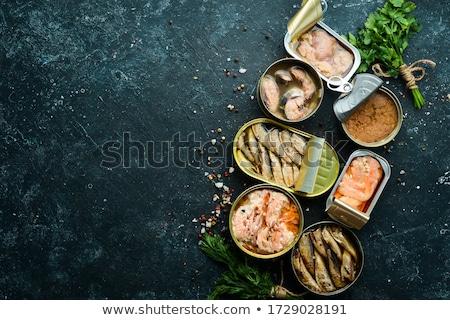 Sprat fish canned Stock photo © ozaiachin